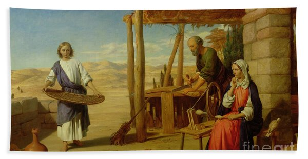Our Saviour Subject To His Parents At Nazareth Beach Towel