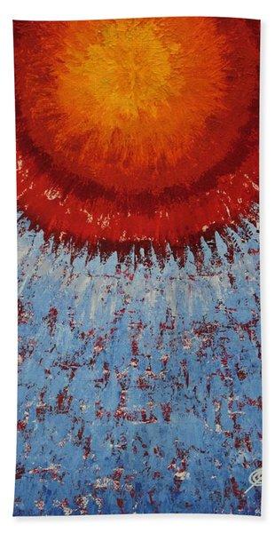 Outburst Original Painting Beach Towel