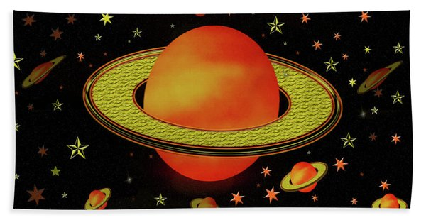 Outer Harvest Moons Beach Towel