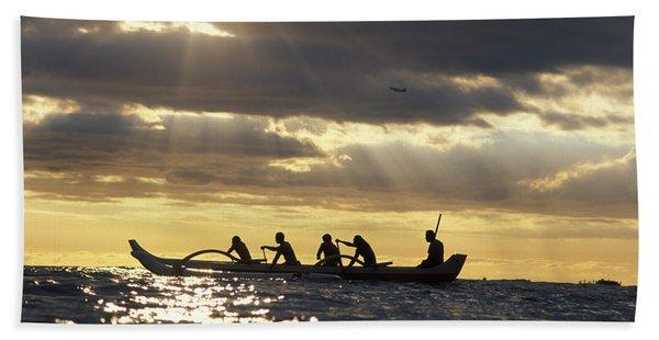 Outrigger Canoe Beach Towel