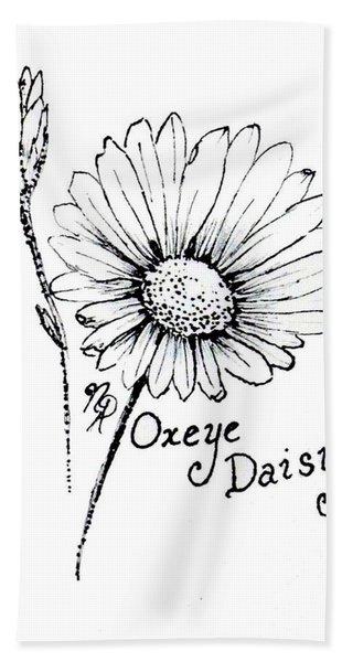 Oxeye Daisy Beach Towel