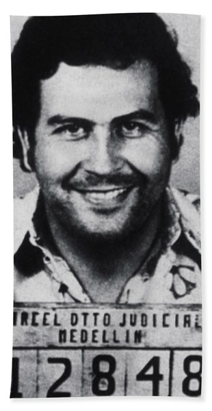 Pablo Escobar Mug Shot 1991 Vertical Beach Towel