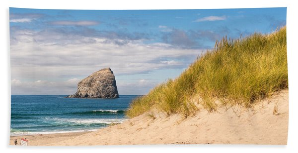 Beach Towel featuring the photograph Pacific Beach Haystack by Michael Hope