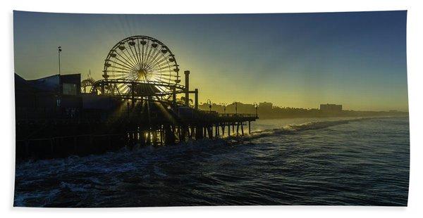 Pacific Park Ferris Wheel Beach Towel