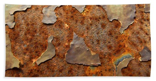 Paint And Rust Photograph Beach Sheet