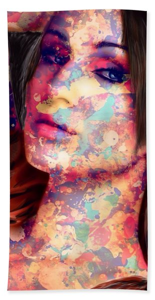 Beach Towel featuring the painting Painted Lady by Mark Taylor