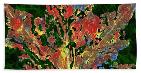 Painted Nature 1 Beach Towel