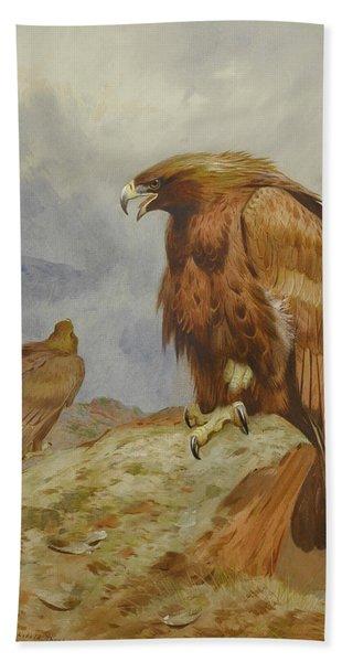 Pair Of Golden Eagles By Thorburn Beach Towel