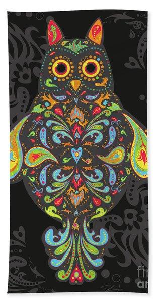 Paisley Owl Beach Sheet