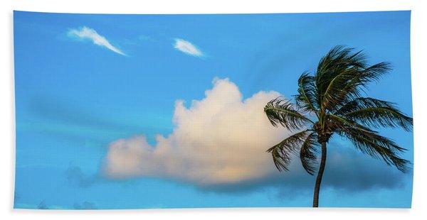 Palm Cloud Delray Beach Florida Beach Towel