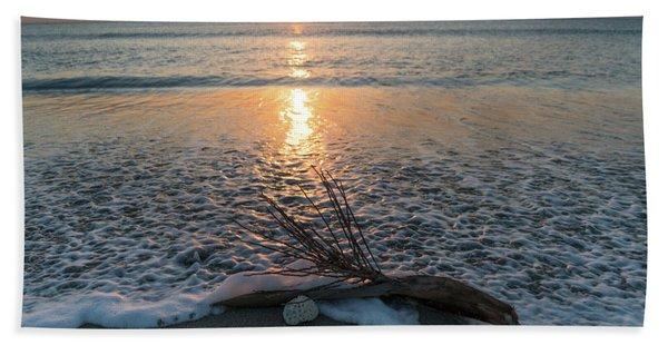 Palm Frond Coral Sunrise Wave Delray Beach Florida Beach Towel