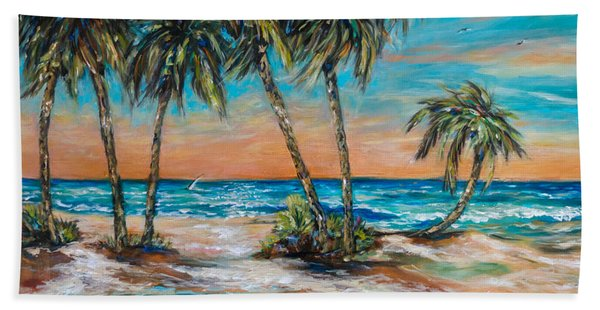 Palm Reflection Lagoon Beach Towel