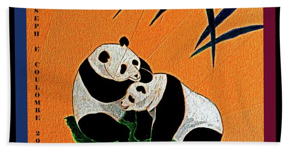 Panda Friends Beach Towel
