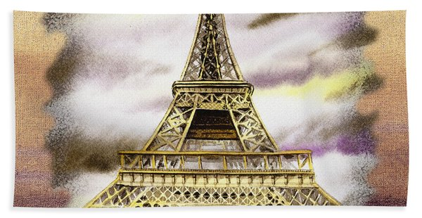 Paris Wind Beach Towel