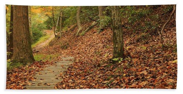 Path To Autumn Beach Towel