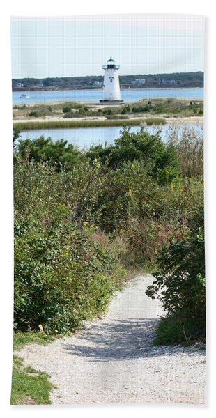 Path To Edgartown Lighthouse Beach Towel