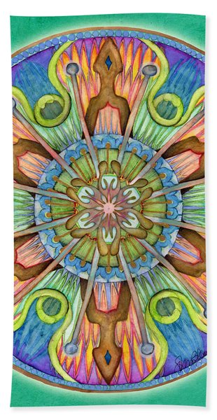 Patience Mandala Beach Towel