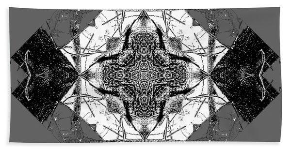 Pattern In Black White Beach Towel