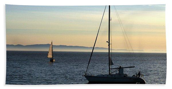 Peaceful Day In Santa Barbara Beach Towel