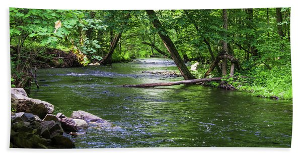 Peaceful Stream Beach Towel