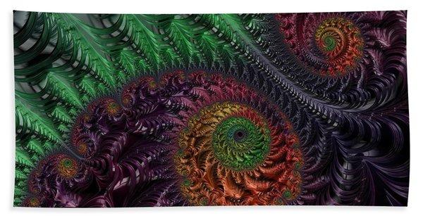 Peacock's Eye Beach Towel