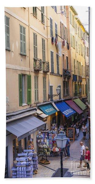 Street In Old Nice Beach Towel