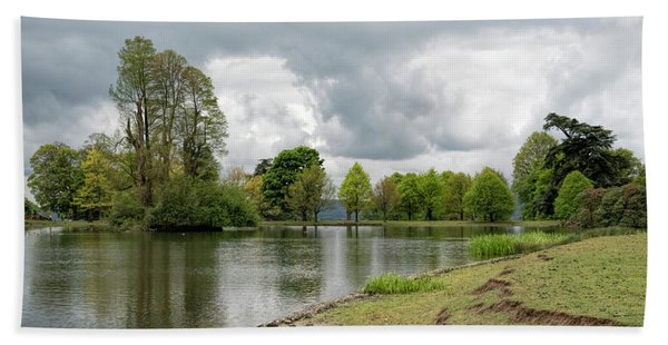 Beach Towel featuring the photograph Petworth Lake by Michael Hope