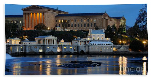 Philadelphia Art Museum And Fairmount Water Works Beach Towel