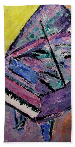 Piano Pink Beach Towel