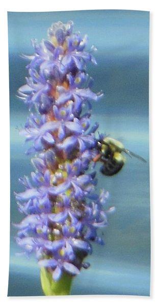 Pickerelweed Bumble Bee Beach Towel