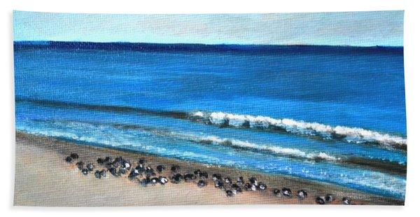 Pigeon Picnic Beach Towel