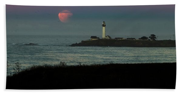 Pigeon Point Supermoonset Beach Towel