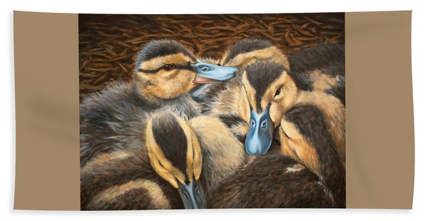 Pile O' Ducklings Beach Towel