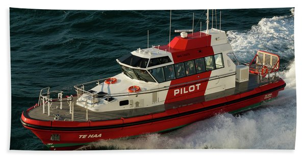 Pilot Boat Wellington Beach Towel