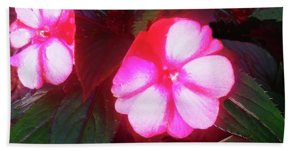 Pink Red Glow Beach Towel