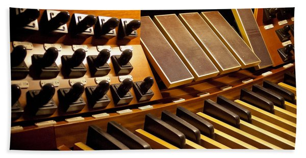 Pipe Organ Pedals Beach Towel