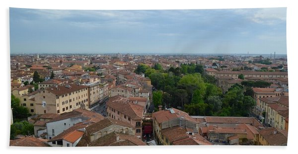 Pisa From Above Beach Towel
