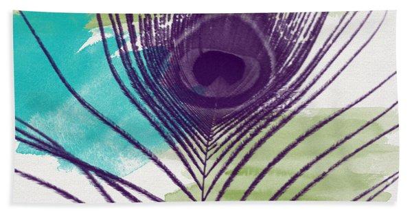 Plumage 2-art By Linda Woods Beach Towel