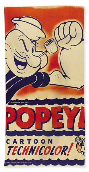 Popeye Technicolor Beach Towel