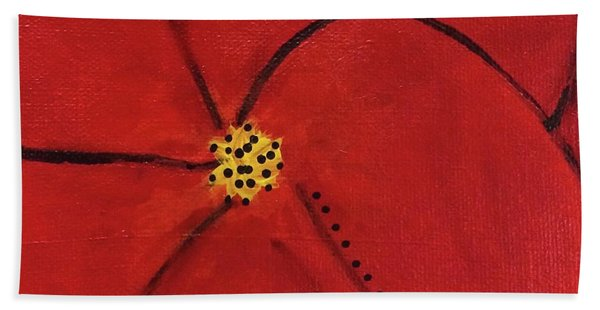 Poppy Dots Beach Towel