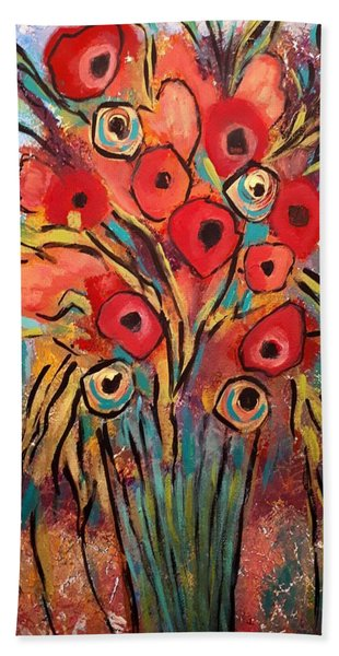 Poppy Fest Beach Towel