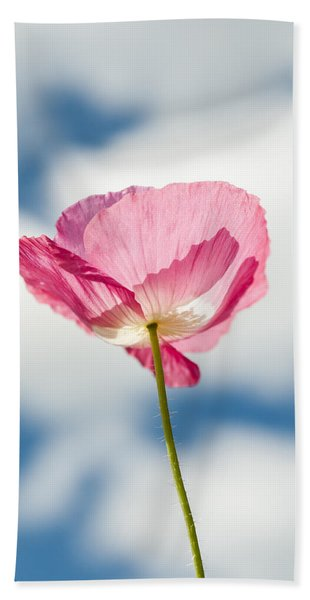 Poppy In The Clouds Beach Towel