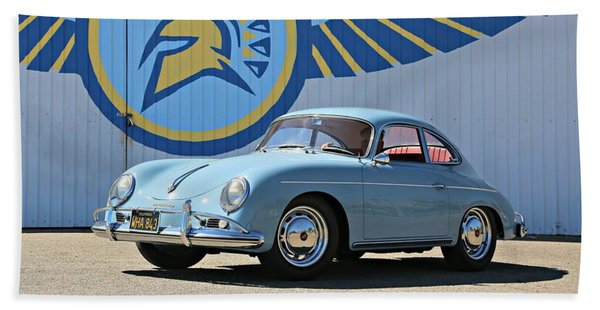 Porsche 356a True Blue Beach Towel