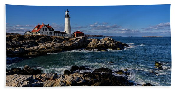 Portland Head Light No.32 Beach Towel