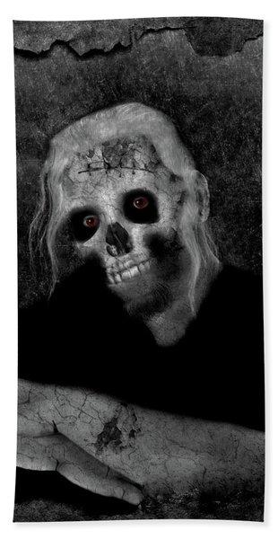 Portrait Of A Zombie Beach Sheet