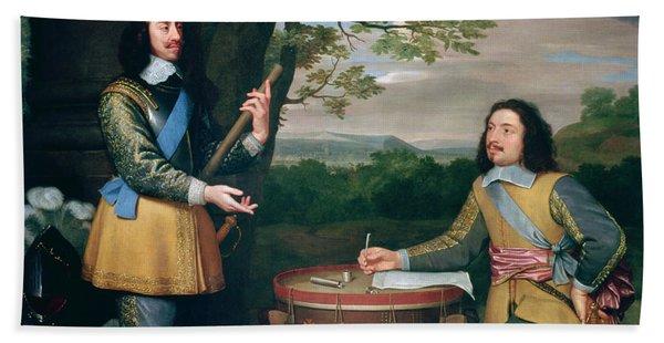 Portrait Of Charles I And Sir Edward Walker Beach Towel
