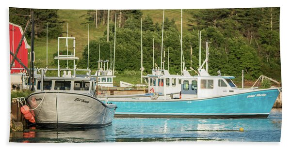 Prince Edward Island Lobaster Boats Beach Sheet