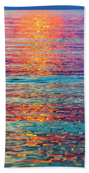 Psychedelic Sunset Beach Towel