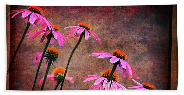 Purple Coneflowers Out Of Alignment  Beach Towel