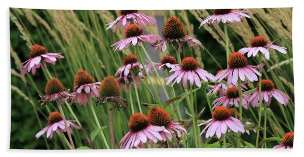 Purple Coneflowers Beach Towel